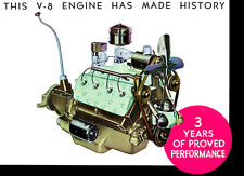 1935 Ford Flathead V-8 Engine - Promotional Advertising Poster