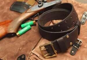 Military Tactical Belt, Dark Brown Full Grain Leather Belt, Double Thick Belt
