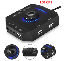 Pc External Sound Card,Usb Audio Adapter w/3.5mm Headphone & Microphone Jack