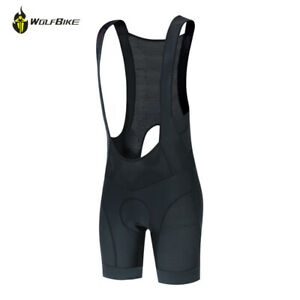 Men's Mountain Cycling Bib Shorts with Silicone Padded Riding Tight Braces Pants