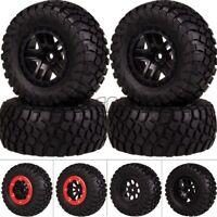 4PCS 1:10 Wheel Rim & Tire Tyre FOR RC CAR Short-Course Truck Traxxas Slash HPI