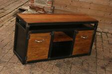 Meuble industriel de TV métal bois  meuble industriel