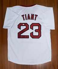 Luis Tiant Autographed Signed Jersey Boston Red Sox JSA