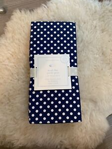 Pottery Barn Kids Polka Dot 100% Organic Cotton Fitted Crib Sheet