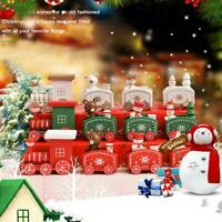 Christmas Wooden Kids Gifts Mini Train Ornament Xmas Party Home Decor best