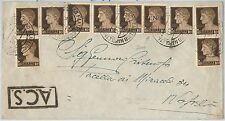 ITALIA RSI  - storia postale: BUSTA con affrancatura mista IMPERIALE - 15.04.45