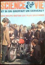 Science et vie n°610 du 7/1968; Et si on greffait un cerveau ? 9 Motos sauvages