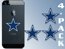 4-PACK 1x1.5 Inch Small Blue Star Stickers  - dallas cowboy cell logo laptop dak