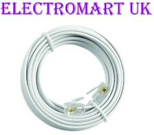 HIGH SPEED BT BROADBAND ADSL MODEM ROUTER RJ11 PLUG LEAD CABLE WHITE 5M