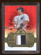 2013 TRIBUTE MARK TEIXEIRA RED REFRACTOR #D /10 PRIME PATCHES LOGO 3 COLOR YANKS