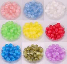 100pcs Various Colors Acrylic Cat's Eye Spacer Beads Ball 8mm for Jewelry Making
