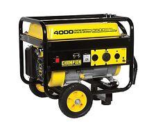 New Champion 4000 watt Gas Portable Gasoline Generator w/ wheel kit B46517