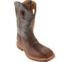 Twisted X Men's MLCS 006 lite weight Bota Puntera De Seguridad engrasado Cognac/Azul