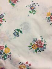 Vintage Springmaid Wondercale Double Flat Sheet No Iron Percale Cottage EUC