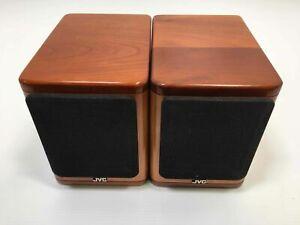 JVC SP-UX2000RGD Cherry Wood Mini Bookshelf Speakers - 20W 4 Ohms