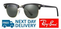 Ray-Ban Sunglasses Clubmaster 3016 W0365 Black Frame Green G-15 Lens 51mm