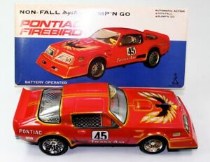 VINTAGE NOS TAIYO (JAPAN) PONTIAC FIREBIRD BUMP'N GO B/O WORKING W/BOX