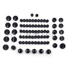 77 Piece Black Caps Cover Kit for 04-15 Harley Sportster Engine & Misc Bolt Nut