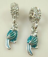 European Silver Charm Bead Fit sterling 925 Necklace Bracelet Chain US hot Pk30