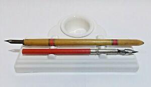 Calligraphy desktop pen stand ink pot, dish inkwell dip pen holder desk stand 01