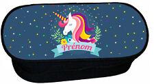 trousse à crayons école licorne unicorn personnalise réf 274