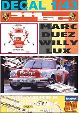 """DECAL 1/43 PORSCHE 911 SC """"BASTOS"""" MARC DUEZ YPRES R. 1982 WINNER (01)"""
