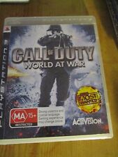 Pre-owned Playstation 3 game PS3 Call of Duty World at War manual