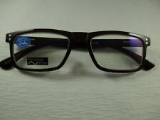 Computer Reading Glasses Classic Rectangle DK BROWN Spring Temples +1.50