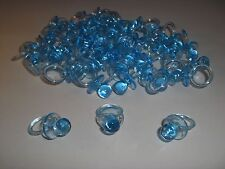 """48 Blue Pacifiers 1.25"""" 1-1/4""""  """"Don't Say Baby"""" Baby Shower Favor Decor"""