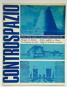 Controspazio n. 1-2 1970 Dedalo Rivista Architettura Behrens Canella Oechslin