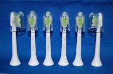 6x Philips Sonicare DiamondClean Genuine Standard White Brush Heads (No Box)