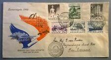 FDC E1 zomerzegels 1950 geschreven adres open klep