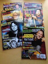MODERN DRUMMER MAGAZINES JULY-DEC 2006 6 ISSUES DAVE LOMBARDO BRAD WILK