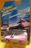1/64 Johnny Lightning 1959 Cadillac Eldorado Convertible Diecast Pink JLCP7045