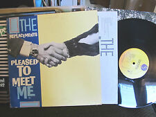 the replacements pleased to meet me 1987 orig w/inner sleeve sire rare vinyl oop