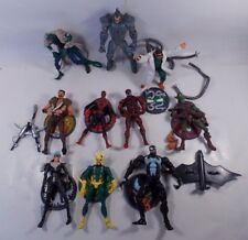 TOY BIZ MARVEL COMICS SPIDER-MAN ACTION FIGURE LOT W/SINISTER SIX BOX SET & MORE