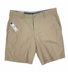 """NEW Southern Tide 9"""" Skipjack Flat Front Shorts Stone Brown Mens Size 36 #2622"""