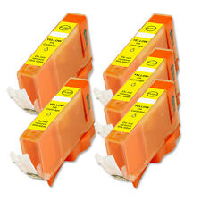 5 YELLOW Ink Replacement w/ Chip for CLI-221 Canon MP560 MP620 MP640 MX860