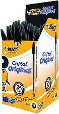 BIC Cristal Original Fine Black Ballpoint Pens Box of 50