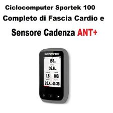 Ciclocomputer Gps Per Bicicletta Mtb Strada Corsa City Trekking Sportek 100 Grey