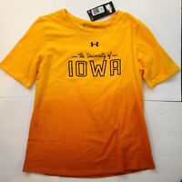 NEW XXL University of Iowa Hawkeyes Under Armour Womens T-Shirt 2X Tee