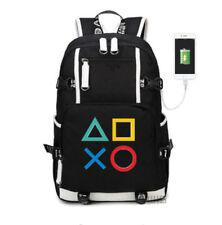 PlayStation 4 PS4 Logo Backpack Kids Schoolbag Travel Laptop Bag USB charging