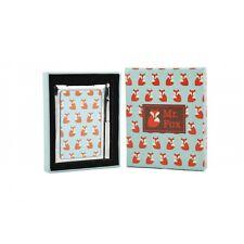Retro Mr Fox Klein Notizblock & Kompakter Spiegel Metall Neu Tolles Geschenk
