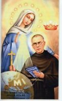 St. Maximilian Kolbe - Relic Laminated Holy Card - Blessed by Pope Francis