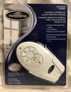 Harbor Breeze Universal Ceiling Fan and Light Remote Control ( New & Sealed )
