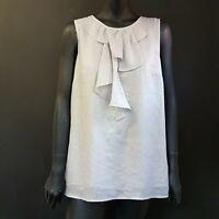 Ann Taylor LOFT Womens Top Blouse Size Medium Sleeveless Layered Detail Floaty