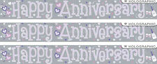 HAPPY ANNIVERSARY SILVER FOIL BANNERS (EW)