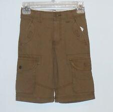Old Navy Boys Adjustable Waist Cargo Shorts Brown Six (6) NWT