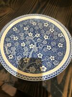 "vintage Toyo Japan Hand Painted plate 12.5"" Blue & White Plate Flowers Branches"