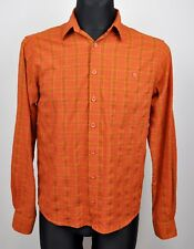 MAMMUT Casual Shirt Small Men's Burnt Orange Checked Long Sleeved Hiking Outdoor